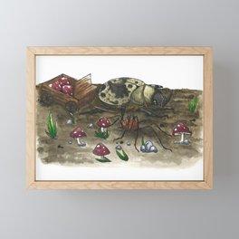 Little Worlds: The Harvest Framed Mini Art Print