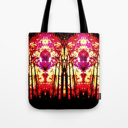 Sunset Stain Glass Tote Bag