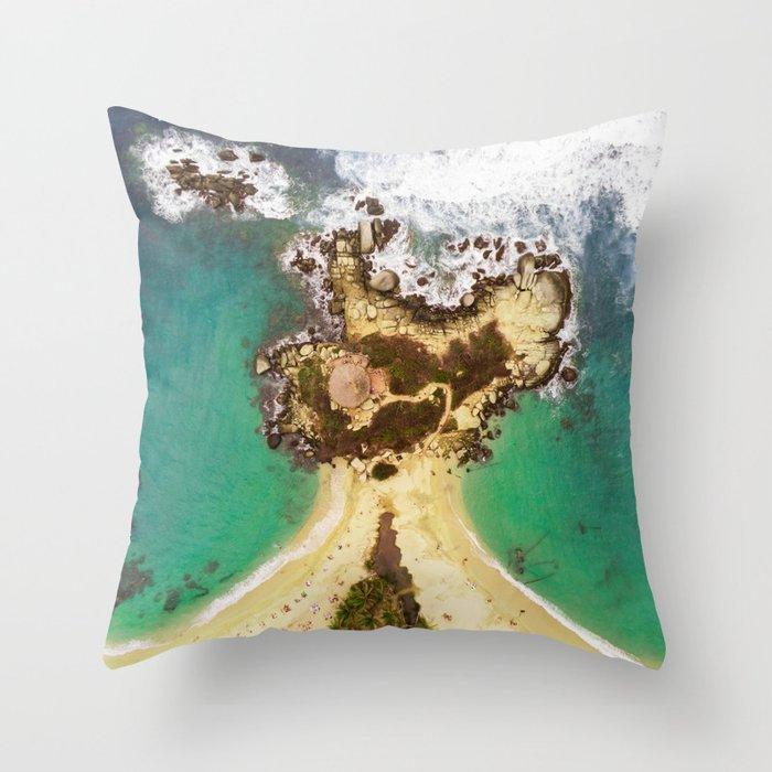 Tayrona National Park Throw Pillow