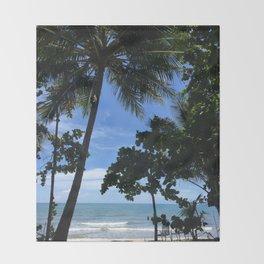 Queensland Australia beach Throw Blanket