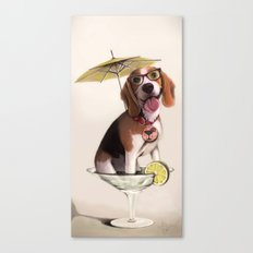 Tessi the party Beagle Canvas Print