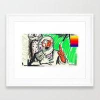 sketch Framed Art Prints featuring Sketch by Alec Goss