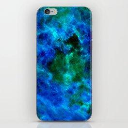 Slate Marble Clouds - Deep Sea iPhone Skin