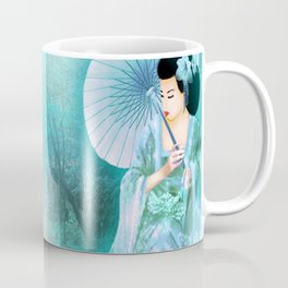 Geisha In Teal Coffee Mug