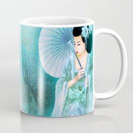 Geisha In Teal Coffee Mug