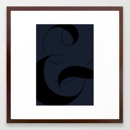Ampersand - Dark Blue Framed Art Print
