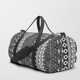 Adobe in Black and White Duffle Bag