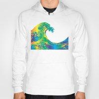 hokusai Hoodies featuring Hokusai Rainbow_A by FACTORIE