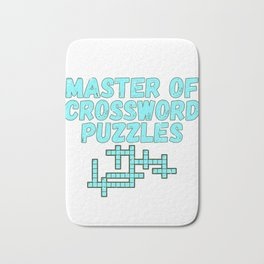 Puzzler Gift Master of Crossword Puzzles Bath Mat
