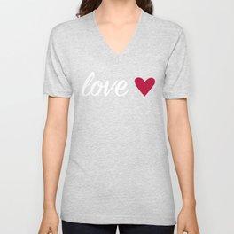 Love Heart - Black Unisex V-Neck