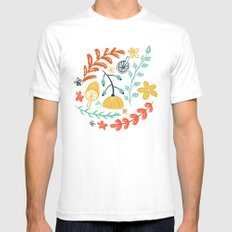 Forest Flora SMALL White Mens Fitted Tee