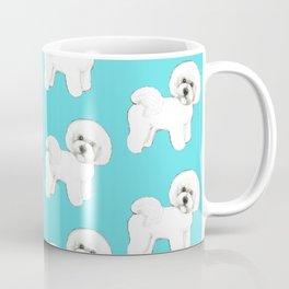 Bichon Frise on aqua / teal / cute dogs/ dog lovers gift Coffee Mug