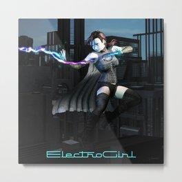 ElectroGirl Metal Print