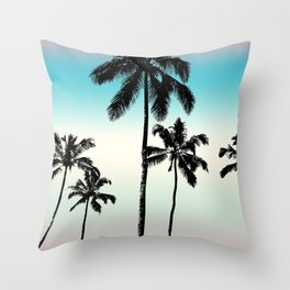 Opal tropical palms Throw Pillow