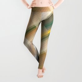 Positive thinking. Abstract gradient art geometric background with soft color tone, cell grid. Ideal Leggings