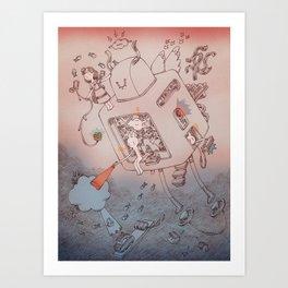 Robotcloud Art Print