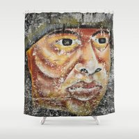 indian Shower Curtains featuring Indian by Lia Bernini