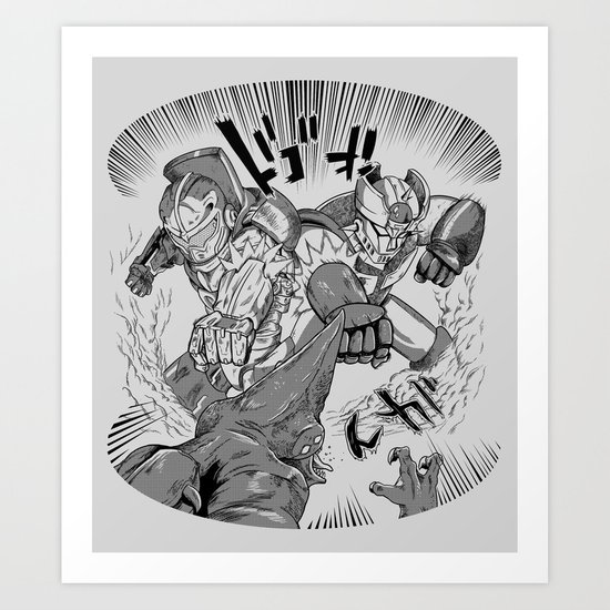 Double Rocket Punch!! Art Print