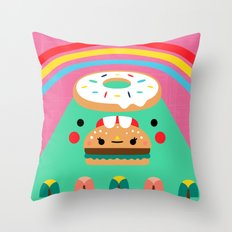 Hungry Mountain Throw Pillow