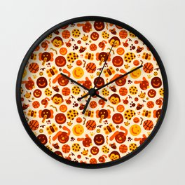 Silly Brown Pattern Wall Clock