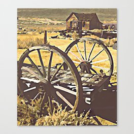 Wagon Wheels of the Old West Canvas Print