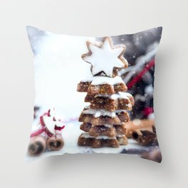 Christmas bakery Throw Pillow