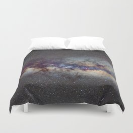 The Milky Way: from Scorpio, Antares and Sagitarius to Scutum and Cygnus Duvet Cover