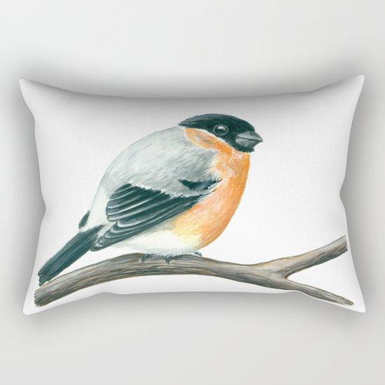 Bullfinch bird Rectangular Pillow