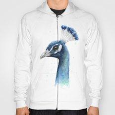 Peacock Watercolor Exotic Bird Animals Hoody