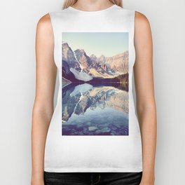 Moraine Lake Reflection Biker Tank