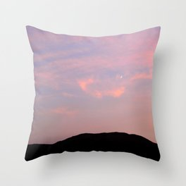 Moonrise over Death Valley Throw Pillow