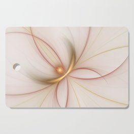 Nobly In Gold And Copper, Fractal Art Cutting Board