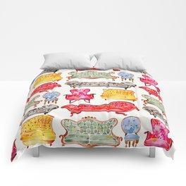 Victorian Lounge – Rainbow Palette Comforters