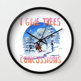 Snowboard Steve - I give trees concussions Wall Clock