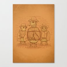 The Good,The Bad and The Ugly.... Ducklings Canvas Print
