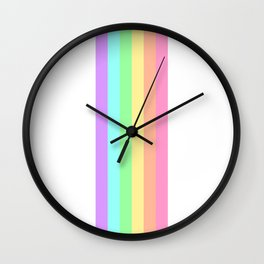 Pastel Rainbow 3 Wall Clock