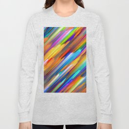 Colorful digital art splashing G391 Long Sleeve T-shirt