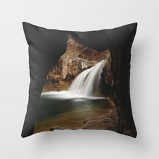 Fossil Creek Cave Throw Pillow