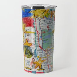 New York City Collage Travel Mug