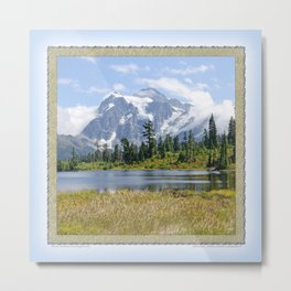 MOUNT SHUKSAN ONE AUGUST DAY Metal Print