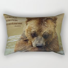 In Deep Thought   - Grizzly Bear Rectangular Pillow
