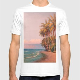 Lahaina Beach, West Maui Tropical Hawaiian Islands landscape painting by D. Howard Hitchcock T-shirt