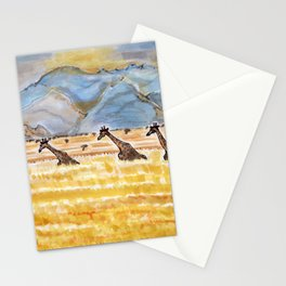Giraffes in Namibia Stationery Cards