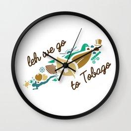 Leh We Go To Tobago Wall Clock