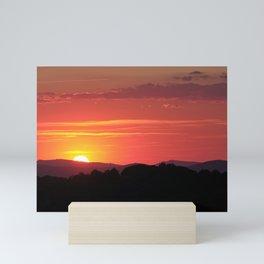Sunrays Through The Mountains. Sierra De Huetor Mini Art Print