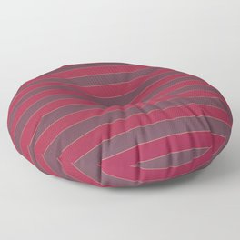 Striped red Floor Pillow