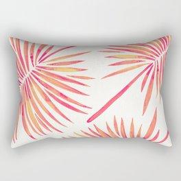 Tropical Fan Palm – Pink Palette Rectangular Pillow