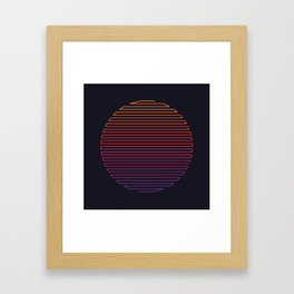 Linear Light Framed Art Print