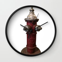 Vintage Vermont Hydrant Wall Clock