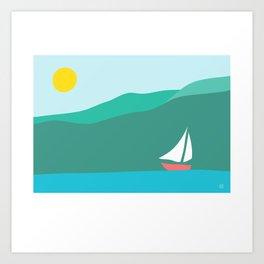 Cagliari Coast Art Print